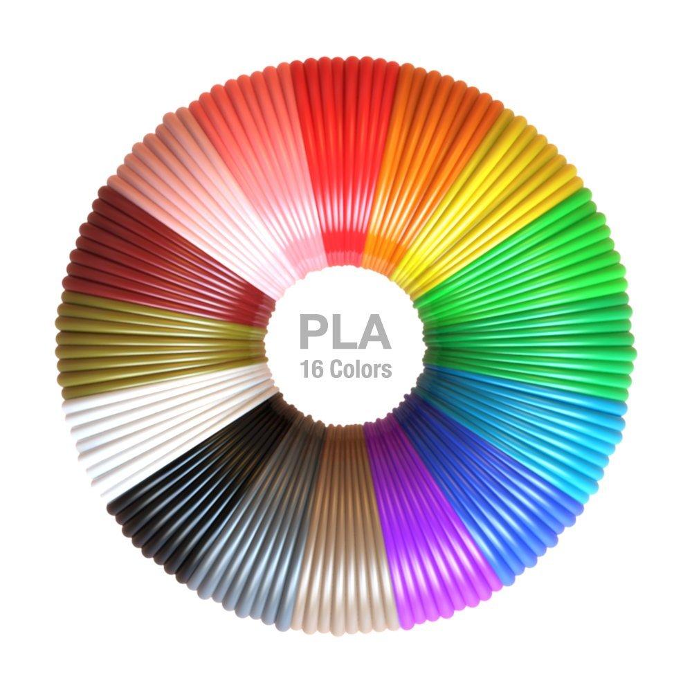 Recambios de filamento PLA 3D de 1,75 mm PLA, paquete de 16 ...