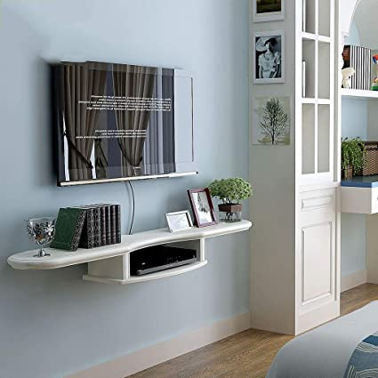 Miraculous Amazon Com Floating Shelf White Wall Mounted Floating Best Image Libraries Sapebelowcountryjoecom