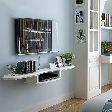 Amazon Com Floating Shelf White Wall Mounted Floating Modern