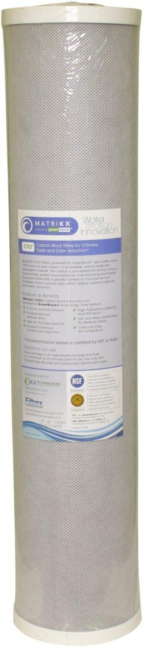 KX MATRIKX 32-450-20-GREEN CTO2-HD20 Whole House Filter Replacement Cartridge