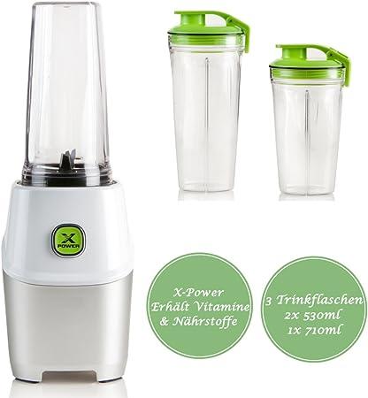 Multi Batidora para smoothies batidora, incluye 3 – Vasos – XPower ...
