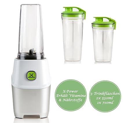 Multi Batidora para smoothies batidora, incluye 3 – Vasos – XPower Resultados: Mantiene vitaminas