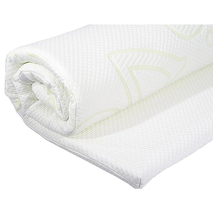 Cubrecolchón viscoelástico, cubrecolchón ortopédico con memory foam, protector de colchón I Cubrecama transpirable con aloe vera - 200 x 140 x 4 cm: ...