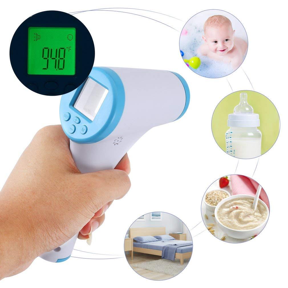 Fieberthermometer Infrarot Ohrthermometer Lila mit Sofortiges Lesen Speicherfunktion Stirnthermometer Digital Thermometer mit Multifunktions Tricolor Fieberwarnung f/ür Baby und Erwachsene