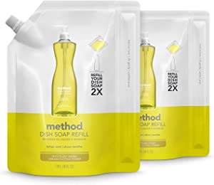 Method Gel Dish Soap Refill, Lemon Mint, 36 Ounces, 2 pack, Packaging May Vary