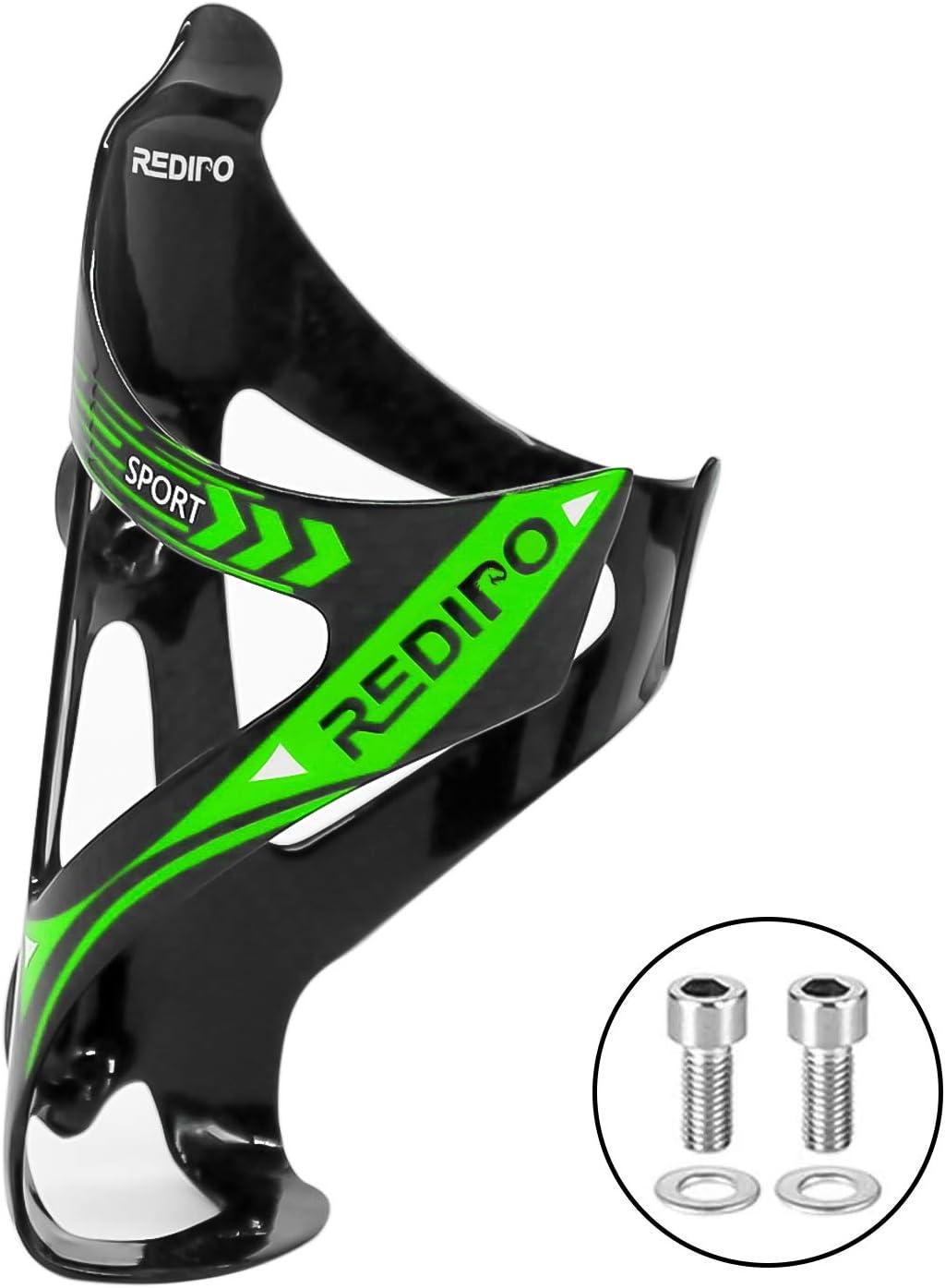 Black//Red Useful Carbon Fiber Bike Glass Water Bottle Holder Cage Cyclist Equip