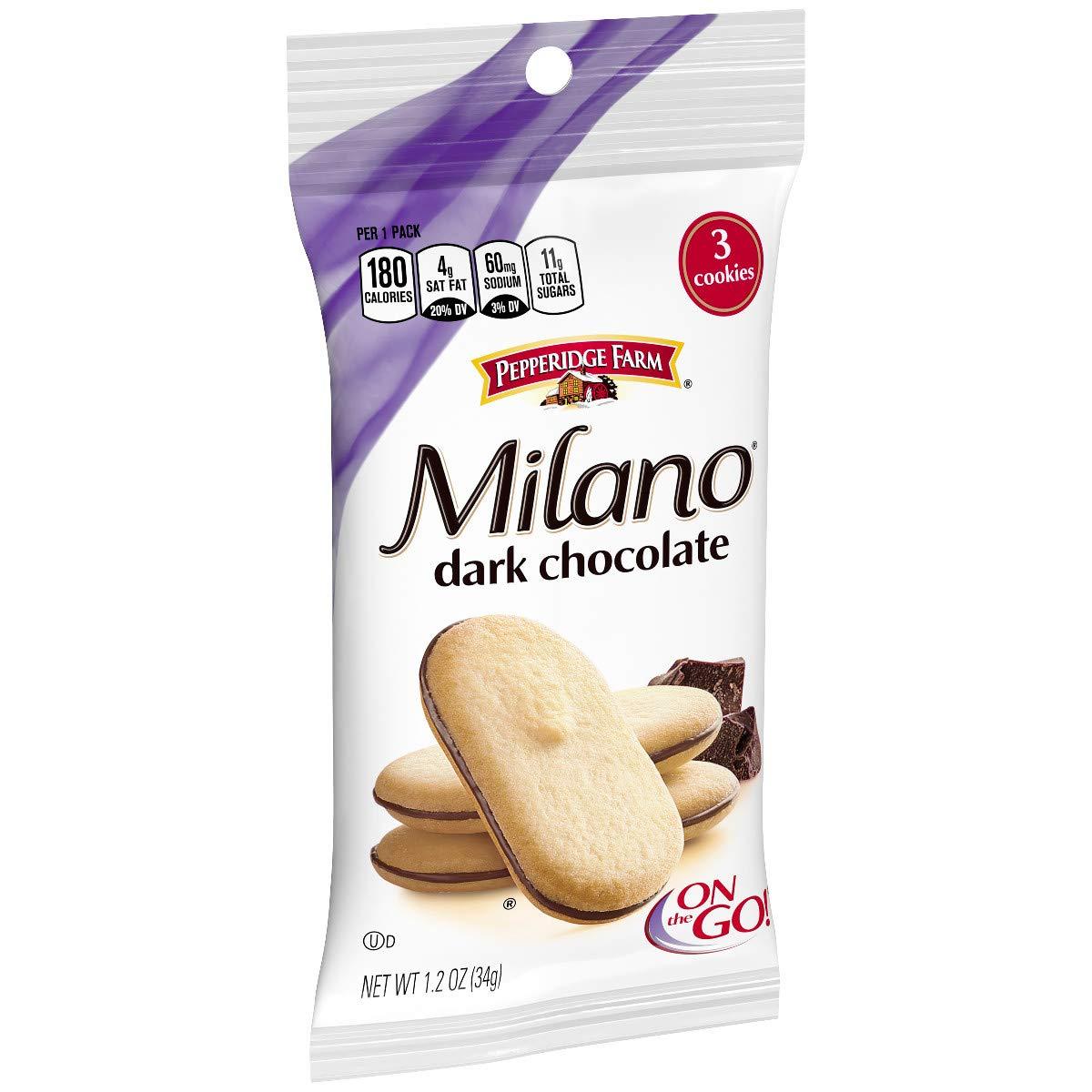 Pepperidge Farm, Milano, Cookies, Dark Chocolate, 1.2 oz, 36-count