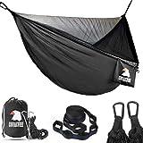 COVACURE Campinghängmatta med myggnät – 2 personer ultralätt utomhusresehängmattor för camping vandring vandring…