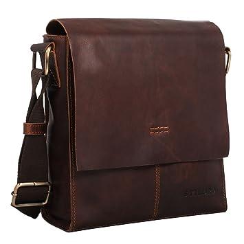 4c3fd6f14d7e3 STILORD  Malte  Kleine Messenger Bag Leder Herren Vintage Schultertasche  Umhängetasche für 9.7 Zoll Tablet