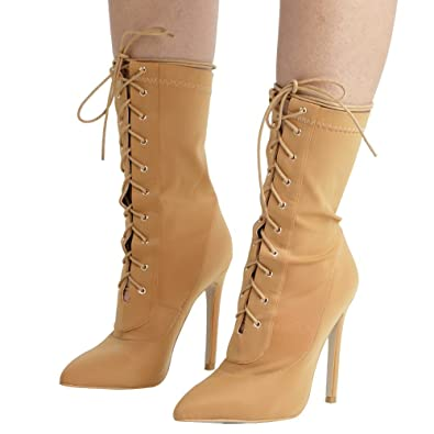 96fefdd3c3 Amazon.com | BAHLA Womens Lycra Lace Up Boots by The Loud Factory in ...