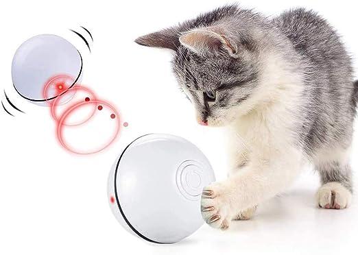 CHOKMAX Juguetes para Gatos Interactivo Automático Rolling Ball Recargable Luz LED Entretenimiento Mascotas Ejercicio Ejercicio Chaser Juguete para Gatos y Perros: Amazon.es: Productos para mascotas