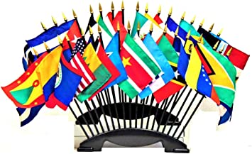 Amazon Com Made In The Usa Organization Of American States Oas World Flag Set With Two 20 Hole Bases 35 Rayon 4 X6 Flags Oas Flag Centerpiece 4x6 Miniature Desk Small Mini Stick Flags