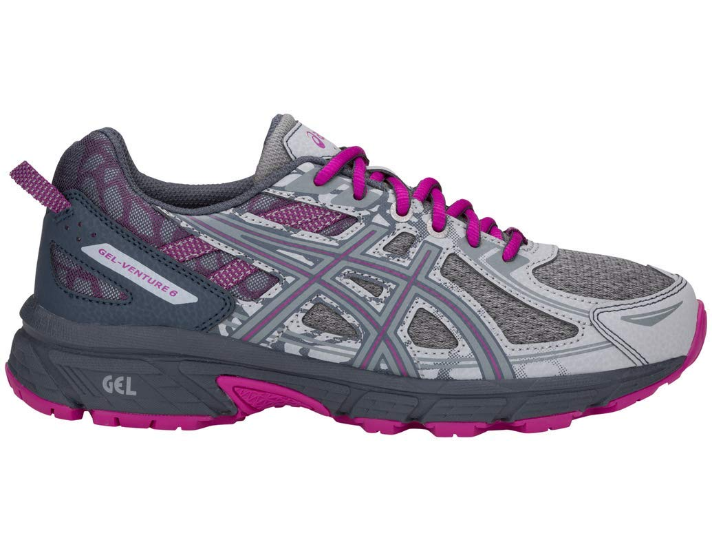 ASICS Gel-Venture 6 MX Women's Running Shoe, Mid Grey/Purple Spectrum, 5 M US