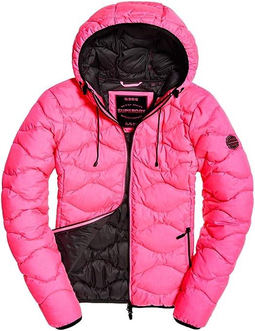 Superdry Jacke Damen ASTRAE Quilt Padded Jacket Fluro Pink