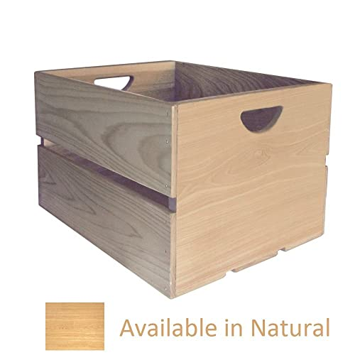 Crate Farm AC-NA Natural Cypress 18 x 14 x 11.5 Apple Crate