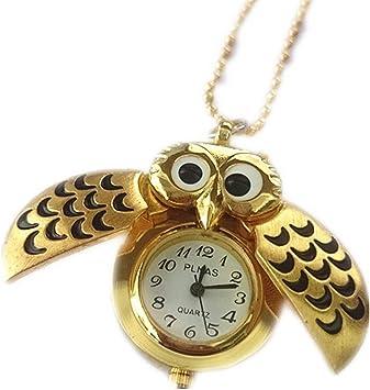 Reloj de bolsillo de cuarzo analógico con colgante de búho volador antiguo Collar de reloj de bolsillo lindo para mujer de TheBigThumb: Amazon.es: Bricolaje y herramientas