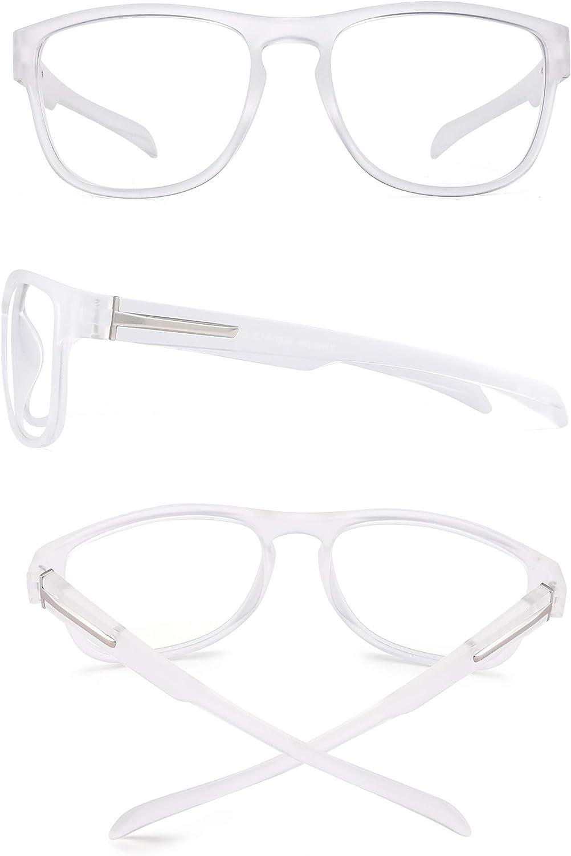 Jim Halo /Übergro/ße runde Computer-Brille f/ür Frauen Blaulichtblockierung Brille Anti-UV-Kopfschmerz Auge /Überanstrengung der Augen Schwarz