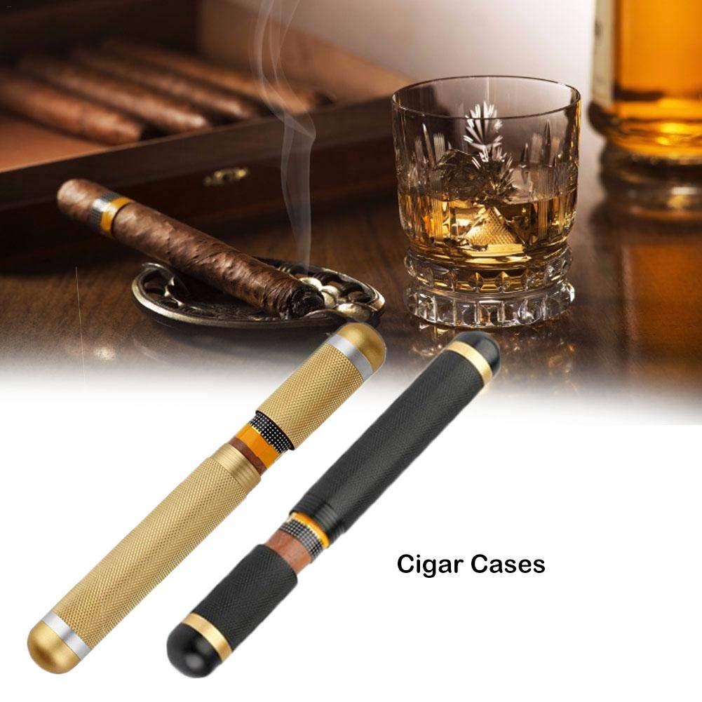 Welltobuy Cigar Tube Cigar Cases Humidors Carrying Holders Screw Cap Style Cigar Accessories Smoking Set 22 Mm Inner Diameter