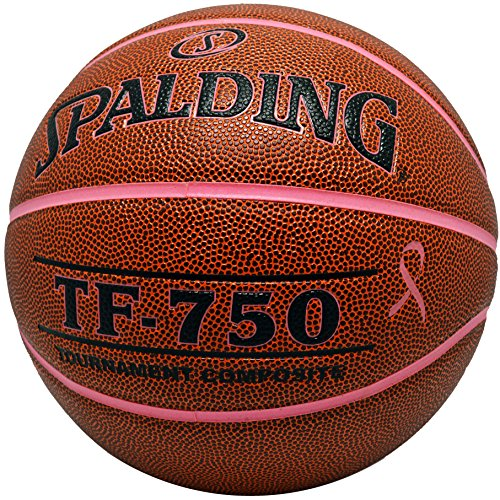 Spalding TF-750 Tournament Composite Leather Breast Cancer Awareness Basketball