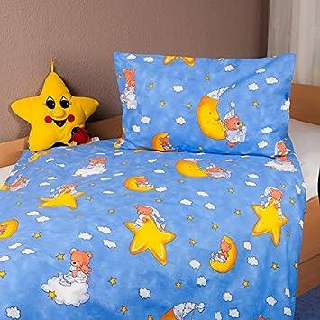 Bettwasche Kinder Renforce 40x60 100x135 Cm Mond Und Sterne