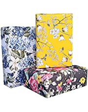 Aakar Pack of 6, Size 17 x 29 Inches, Wrapping Paper Sheets For Craft, Packing, Birthday, Christmas, Wedding (Sun Bird Sea)