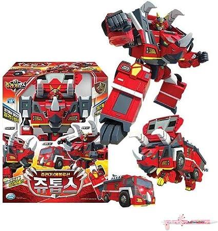 New Jurassic Cops Evolution JUTOPS Dinosaur Fire Engine Transformer Robot Korea
