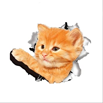 Catnew Fashion Cute D Cat Dog Pattern Toilet Lid Cover Decal Wall Art Sticker Bathroom Home