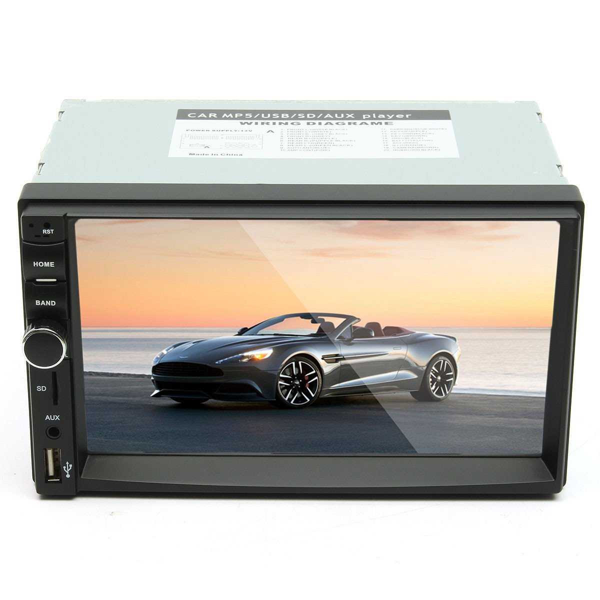7 Inch Touch Screen 2 Din Car 1080P Radio Auto FM Aux/AUX/SD/MP5 Bluetooth And Camera by US Tech (Image #2)