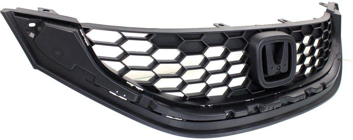 Made Of Abs Plastic HO1200216 71121TR3A01 Textured Lx//Hf//Cng Models New Grille For 2013-2015 Honda Civic 1.8ltr Sedan