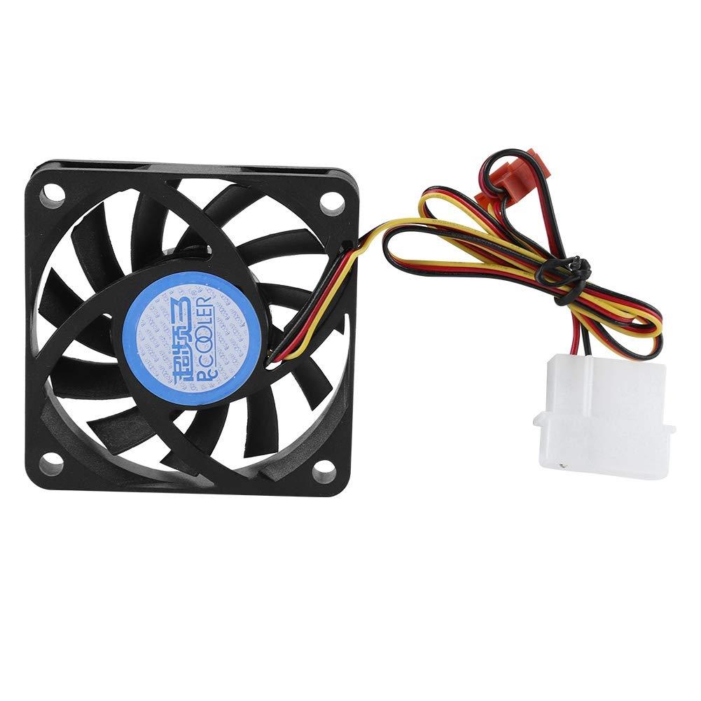 PC Cooling Fan 6cm 4Pin/3Pin DC12V CPU Heatsink Fan con 1...
