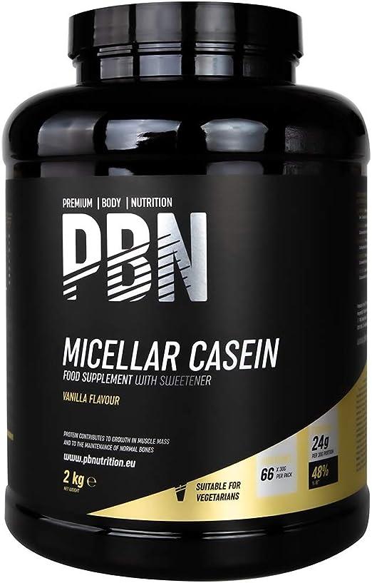 PBN - Premium Body Nutrition PBN - Caseína micelar, 2 kg (sabor vainilla)