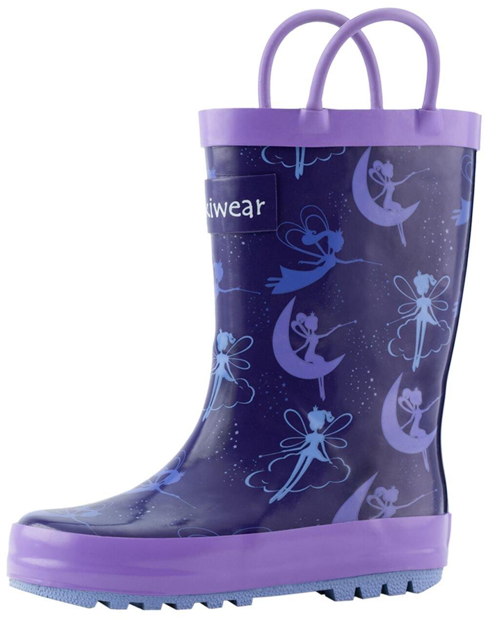 Oakiwear Kids Rubber Rain Boots with Easy-On Handles, Fairy Dust, 1Y US Little Kid by Oakiwear (Image #3)