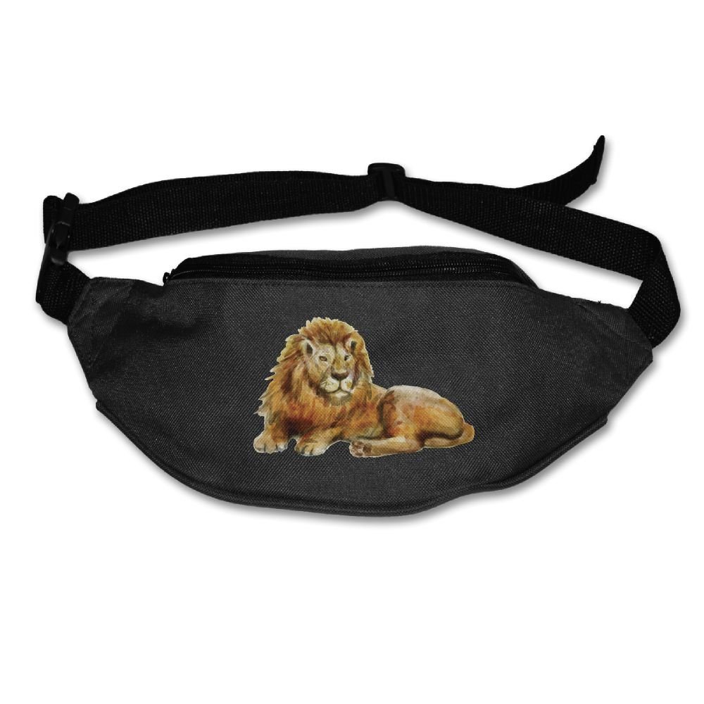 Ada Kitto Lion Mens&Womens Sport Style Travel Waist Bag For Running And Cycling Black One Size