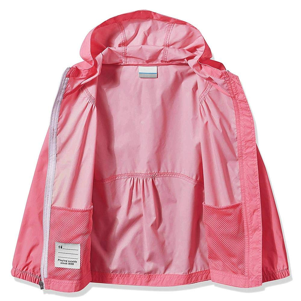Phorecys Kids Girls Switchback Rain Jacket Hoodie Coat Lightweight Waterproof