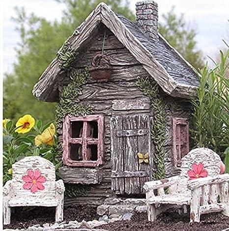 Attirant My Fairy Gardens Fairy Shed W/ Swinging Door New Fairy House Fairy Cottage