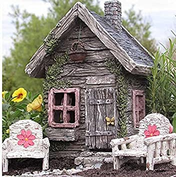 Amazoncom My Fairy Gardens Fairy Shed w Swinging Door New