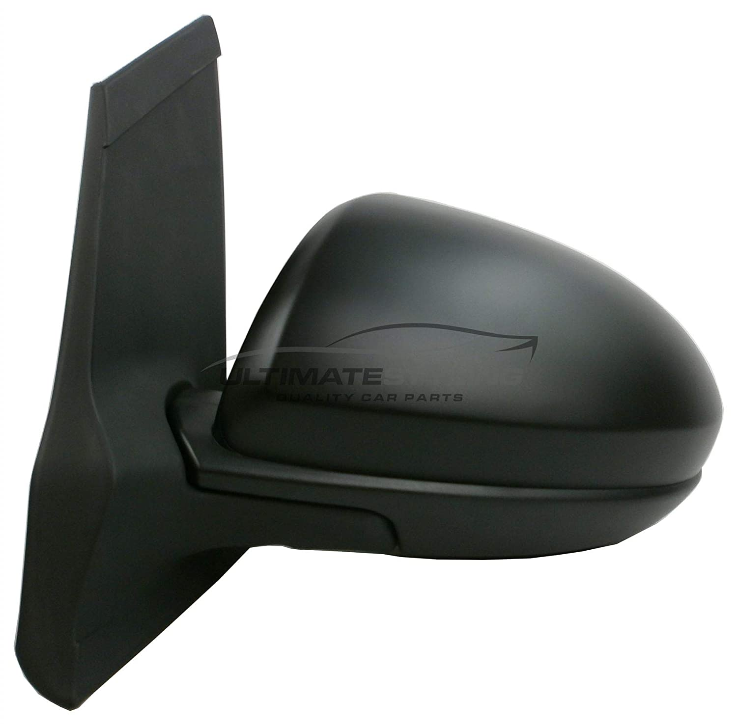 Ultimate Styling Replacement Electric Power Folding Wing Door Mirror With Heated Glass With Primed Mirror Cover Cap Side Of Product Passenger Side LH