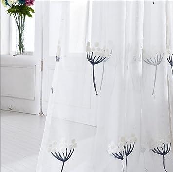 Starsglowing 2 X Top Stickrei Gardine Schal Moderne Vorhnge Voile Vorhang Senvorhang Gardinen Fliessende Stoffe