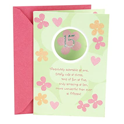 Amazon hallmark vida spanish birthday greeting card hallmark vida spanish birthday greeting card quinceaera flitter flower hearts m4hsunfo