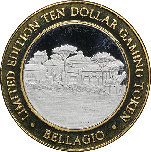 1999 Bellagio Village $10 Silver Casino Strike, w/ Original Capsule