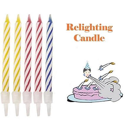 Amazon Euone Candles Toys Magic Trick Relighting Birthday