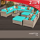 Hampton 13 Piece Outdoor Wicker Patio Furniture Set 13a Review