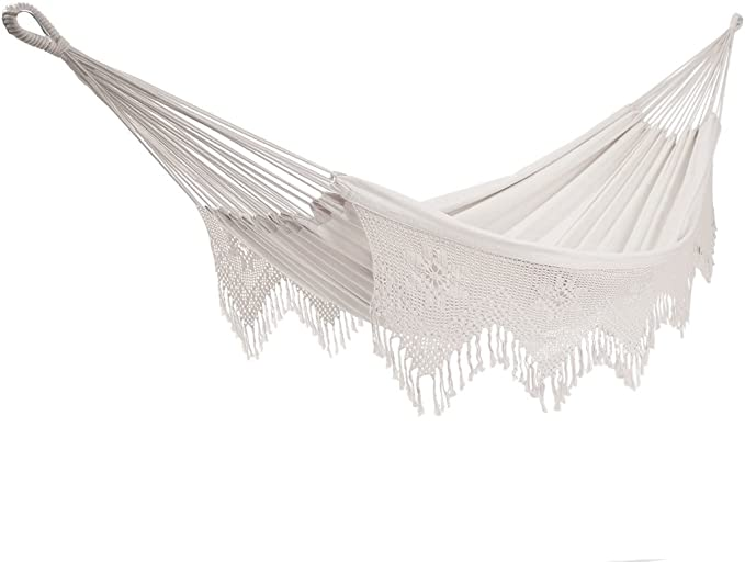Vivere BRAZ400 Brazilian Style Double Deluxe Hammock – Travel-friendly