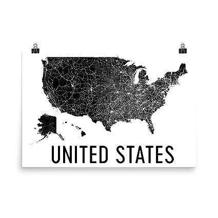 Amazon.com: US Map, USA Map, America Map, United States Map ...