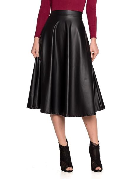 6da07c0ecca Women s J2 Love Faux Leather Flare Skirt at Amazon Women s Clothing ...