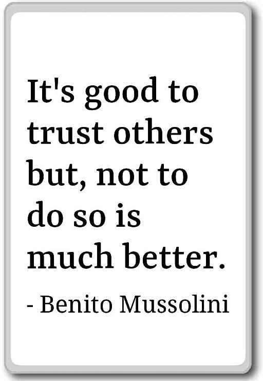 ES BUENO PARA confiar en otros, pero no hacer S... - Benito ...