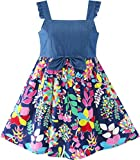 Product review for Sunny Fashion Flower Girls Dress Denim Back To School Sling Size 4-10