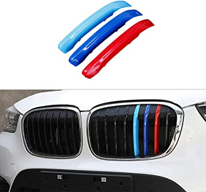 Car Grille Gill M Sport 3 Colour Cover Stripe Clips For BMW X5 E70 2008-2013