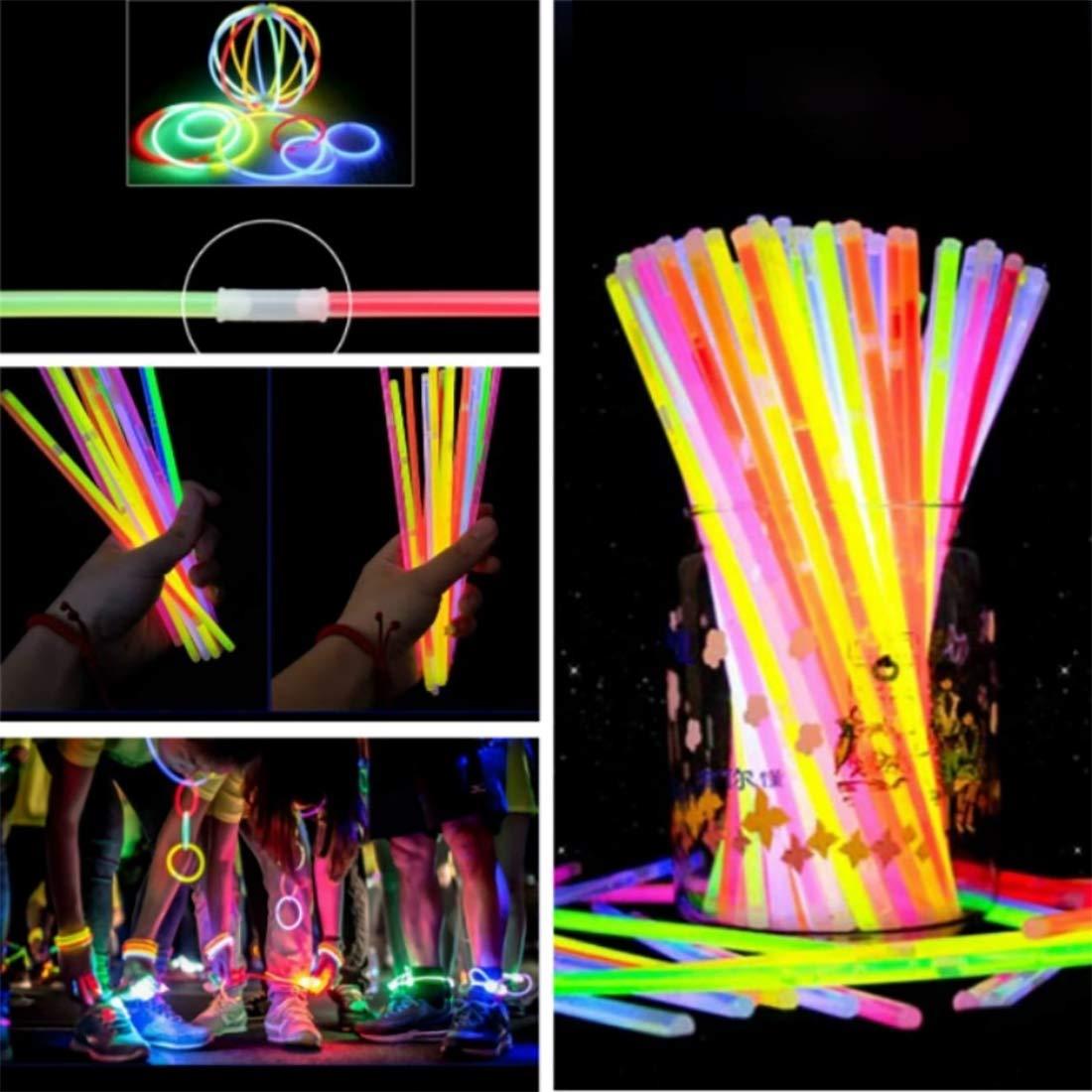 Party Propz Glow Sticks Band Bracelets-100Pcs Pack Bulk Glowing Stiks