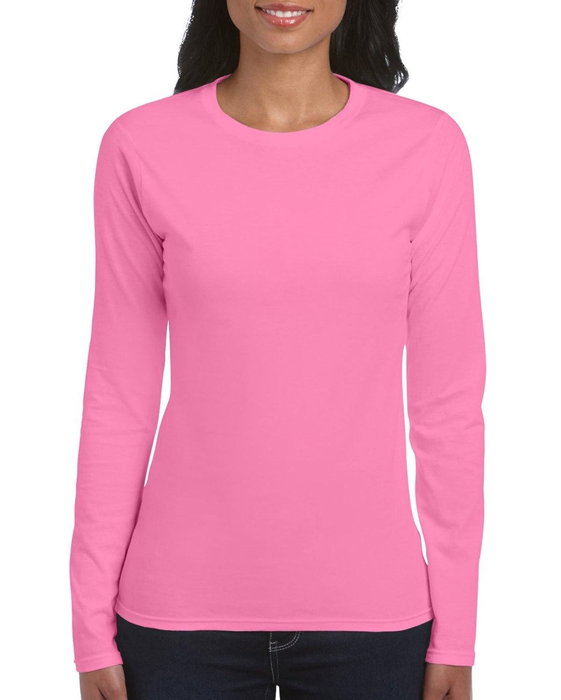 Gildan Ladies Soft Style Long Sleeve T-Shirt at Amazon Women's ...